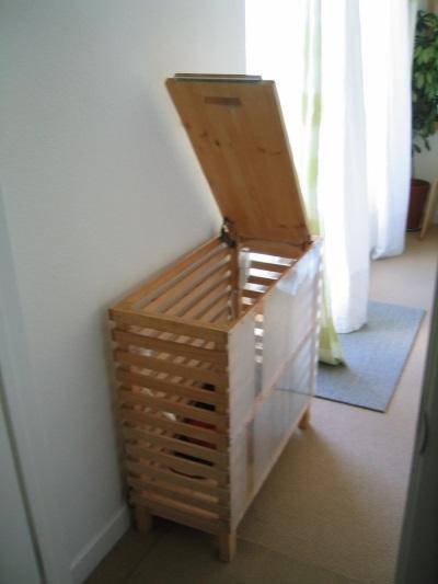 Деревянные корзины для белья для ванной