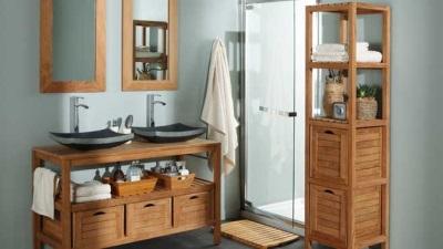 Особенности производства  мебели для ванной от Леруа Мерлен