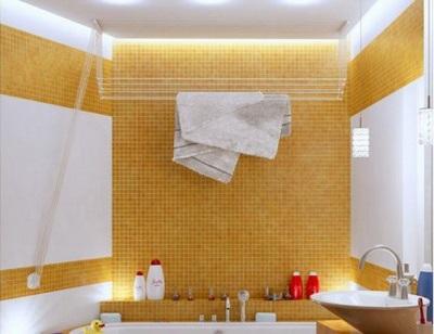 Стальная сушилка для белья в ванной