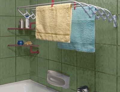 Алюминиевая сушилка для белья в ванную комнату