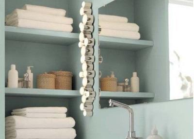 Особенности размещения настенных светильников в ванной