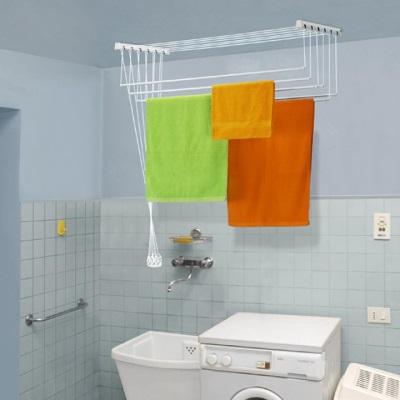 потолочная сушилка для белья в ванной комнате