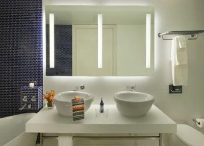 Зеркала в ванной комнате со встроенной подсветкой