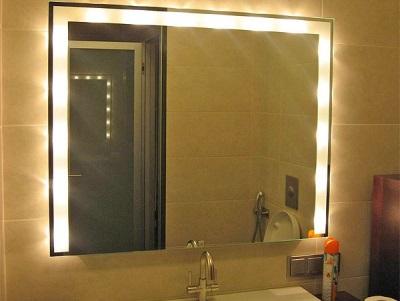 Led-лента для зеркала в ванную комнату