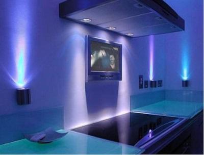 светодиодные светильники в дизайне ванной