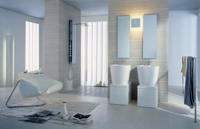 Светодионые светильники в ванной в стиле модерн
