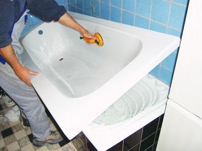 Обновление покрытия чугунной ванны - акриловый вкладыш