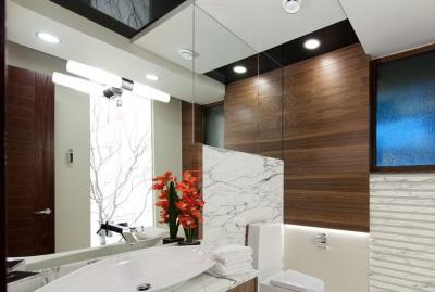 Встраиваемые светильники в ванной