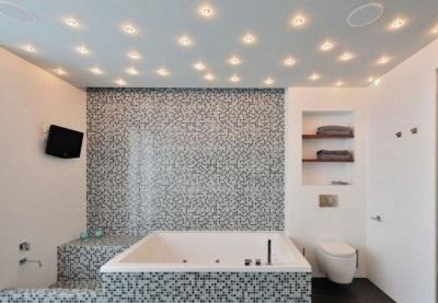 Советы по выбору встраиваемых светильников для ванной комнаты