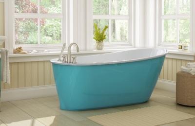 Цветные ванны из стали