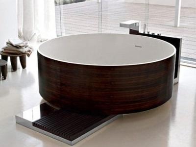 Чугунная ванна круглой формы