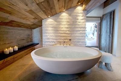 Дизайн овальной ванны