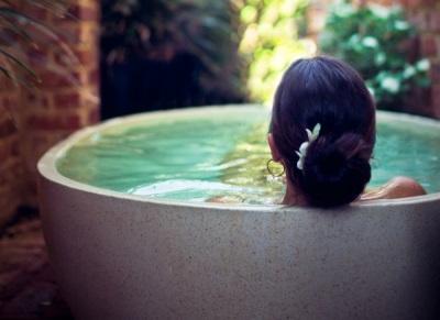 Количество воды затраченное на процедуры в ванной