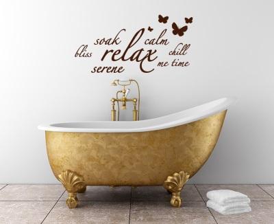 Трафаретная надпись у ванны