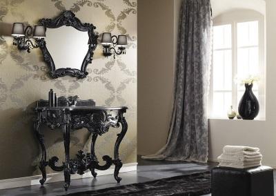 Ванная комната в стиле барокко - красивая мебель