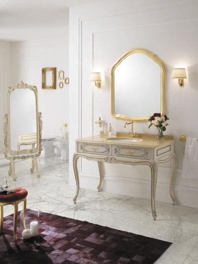 Раковина в ванной в стиле барокко