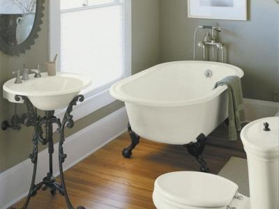 Ванна Elegansa в ванной комнате оформленной в ретро стиле
