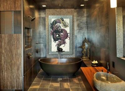 Ванная оформленная в китайском стиле