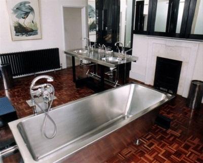 Стальная прямоугольная ванна из нержавейки