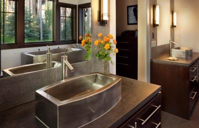 Раковина и ванна из нержавеющей стали