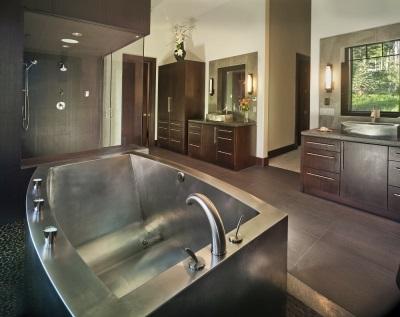 Красивая ванна из нержавеющей стали для ванной