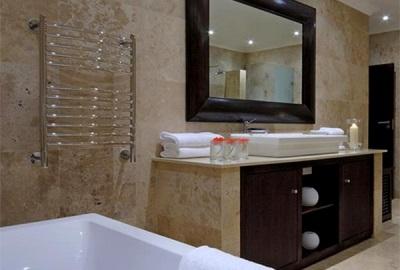 Водяной хромированный полотенцесушитель для ванной