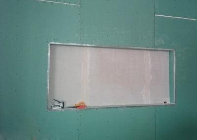 Обшивка каркаса из профиля гипсокартоном для ниши в ванной