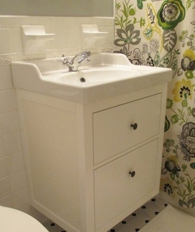 Подвесная тумба с раковиной в ванной своими руками