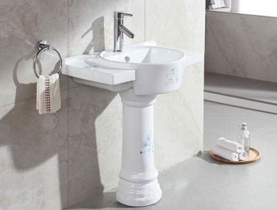 Расположение умывальника в ванной относительно пола - чертеж и расчеты