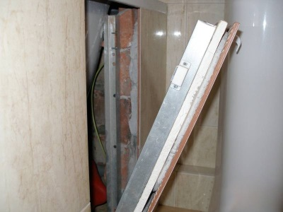 Сантехнический люк невидимка на магнитах под плитку