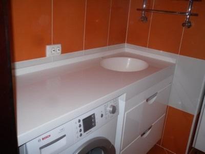Тумба с раковиной под стиральную машину и советы по выбору