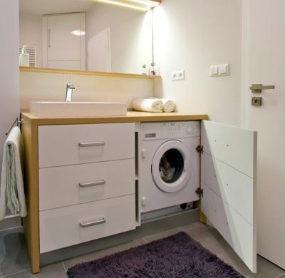 Тумба с раковиной и с дверцей под стиральную машину