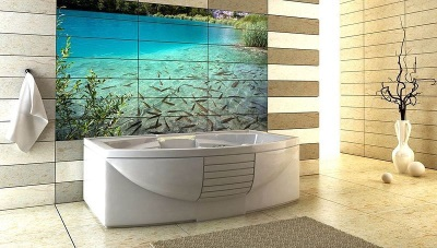 3D-плитка для одной стены ванной комнаты - её укладка