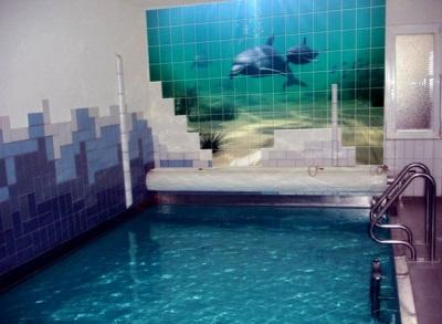 3D-плитка с дельфинами для ванной комнаты и бассейна