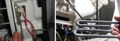 Как снять тэн у стиральной машины