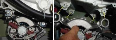 Снятие двигателя стиральной машинки