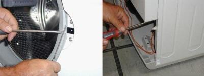 Снятие сервисной панели стиральной машины