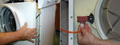 Извлечение центральной панели стиральной машины