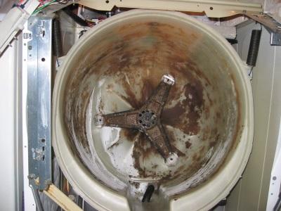 Накипь на элементах стиральных машин