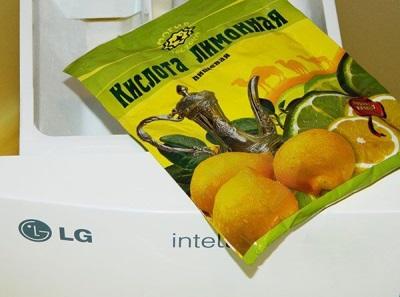 Лимонная кислота и газировка от накипи в стиральной машине