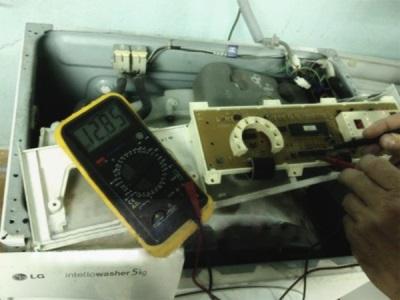 Проверка электропитания стиральной машины