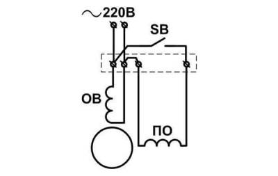 Схема подключения двигателя стиральной машины старого образца
