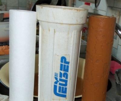 Новый и использованный фильтры для воды