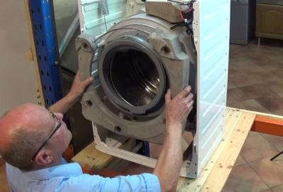 Снятие барабана со стиральной машины своими руками