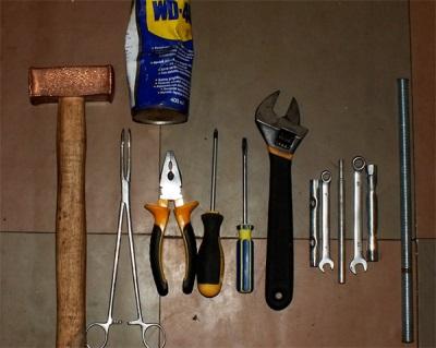 Инструменты для снятия подшипника с барабана стиральной машины
