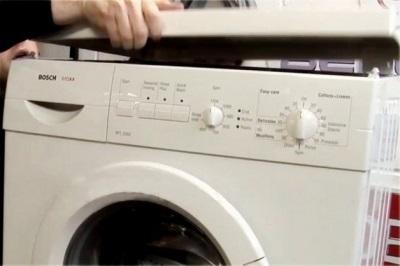 Как снять крышку на стиральной машине Сименс, Бош, Ардо