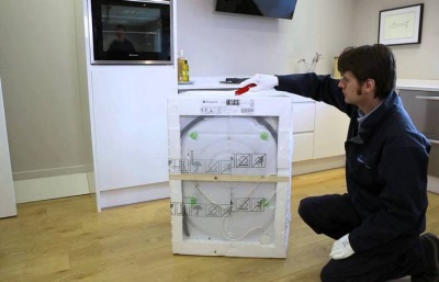 Подготовка стиральной машины к подключению водопровода и канализации