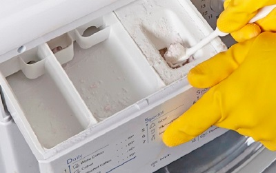 Чистка податчика стирального порошка
