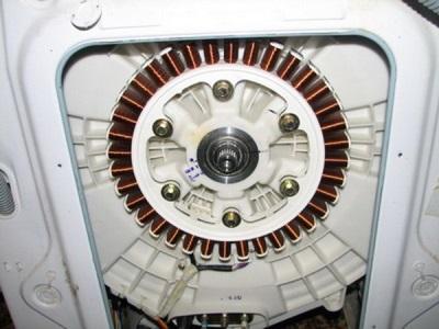Двигатель расположенный на баке стиральной машины автомат