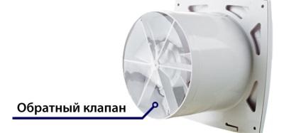 Обратный клапан вентилятора для ванной